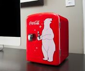 Electric Cooler Coca Cola Mini Refrigerator Compact Fridge For Dorm Office
