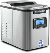 Mrp Us Portable Ice Maker Stainless Steel Ice Machine Ice702 With 3 Selectable C