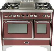 Ilve Umd100fdmprbx 40 Majestic Dual Fuel Gas Range Double Oven Warming Drawer