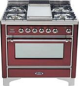 Ilve Um90fdmprbx Majestic Series 36 Dual Fuel Gas Range 4 Sealed Burners
