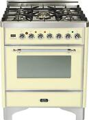 Ilve Um76dvggax Majestic 30 Pro All Gas Range Single Oven Antique White