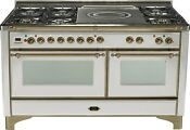Ilve Um150sdmpiy Majestic Series 60 Dual Fuel Gas Range Double Oven French Top