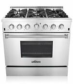 36 Dual Fuel Range Thor Kitchen 5 2 Cu Ft Oven