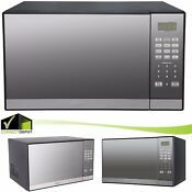 Microwave Oven 1 3 Cu Ft 1000 Wat Grill Oster Turntable Mirror Finish Resistant
