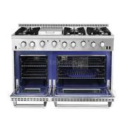 48 6 Burner Gas Range Stainless Steel W Double Oven Thor Kitchen Hrg4808u M7s7