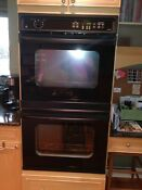 Ge Profile 30 Double Wall Oven Black Works Great