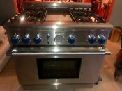 Thermador Professional Gas Range Stove 36 Pg364gebs 14 Griddle