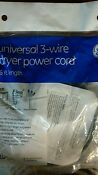 Ge Universal 3 Prong Wire 30 Amp 30a Dryer Cord Power Cable 6 Length Wx09x10004