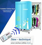 Portable Clothes Dryer 1200w Electric Laundry Drying Rack 33 Lb Remote Control