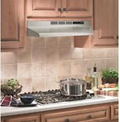 Nutone 30in Kitchen Non Vented Ductless Under Cabinet Range Hood Stainless Steel