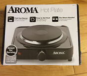 Aroma Single Hot Plate Ahp 303 Black Electric Hot Plate Cast Iron Burner 5 Lbs