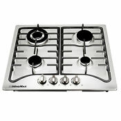 Windmax 23 Stainless Steel 4 Gas Burners Cooker Built In Natural Gas Cooktops
