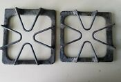 2 Ge Whirlpool Range Stove Oven Burner Grate Plate Grill Cast Iron W10447925