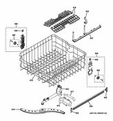 New Oem Ge Dishwasher Rack Upper Asm Coated Wd28x21719