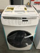 Samsung 5 5 Total Cu Ft High Efficiency Flexwash Washer In White Wv55m9600aw