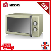 Swan Sm22070gn Retro 900w 25l Manual Microwave Dial Control In Green Brand New
