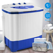 18 7lbs Portable Mini Twin Tub Compact Washing Machine Washer Spin Dryer W Hose