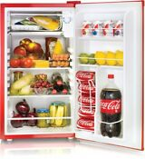 Compact Refrigerator Freezer Fridge Coca Cola Dorm Cold Beer Cooler 3 2 Cu Ft