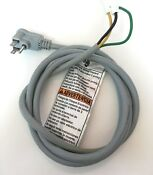 Kenmore Elite He3 Washer 110v Electrical Power Cord 8182120 Wp8183009 Exc Cond