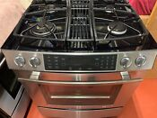 Jenn Air Gas Dual Fuel Range New Condition Stainless Steel Downdraft