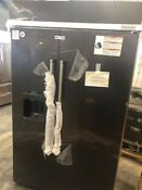 Kitchenaid Kbsd608ebs 48 Side By Side Refrigerator Black Stainless