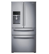Samsung Rf24fsedbsr 4 Door Flex 22 6 Cu Ft Refrigerator Sainless Steel Silver