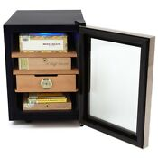 Whynter Stainless Steel Cigar Cooler Humidor 250 Cigar Capacity