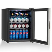 Home 52 Can Beverage Refrigerator Cooler With Glass Door Stainless Steel Us