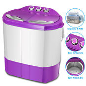 Mini Portable Compact Washing Machine Twin Tub Laundry Washer Spin Dryer Rv Dorm