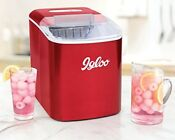 Igloo Iceb26rr 26 Pound Automatic Portable Countertop Ice Maker Machine Red