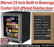 Marvel Mp24brf3lp 24 Inch Builtin Beverage Center With 2 Glass Shelves Blue Led