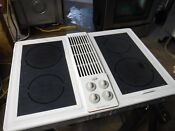 Jenn Air C236w White Elect Downdraft Cooktop With Glass Burners