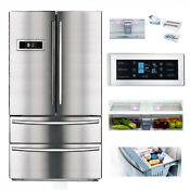 Smad Cabinet Depth French Door Refrigerator Stainless Steel With Auto Ice Maker
