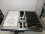 Jenn Air Downdraft Stainless W White Cartridge Grill Unit Cooktop Stovetop