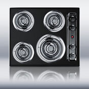 New In Box Black 24 Electric Cooktop Surface Unit Still High Temp Burners