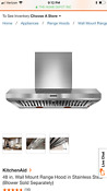 Kitchenaid 48 Inch Stainless Range Hood Kxw9748yss