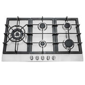 30 In Gas Cooktop In Stainless Steel With 5 Sealed Brass Burners