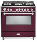 Verona Designer Series Vdfsgg365bu 36 All Gas Range Convection Oven Burgundy