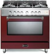 Verona Prestige Series Vpfsgg365bu 36 All Gas 5 Burner Range Oven Burgundy