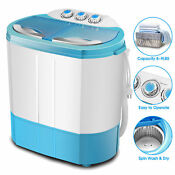 Mini Rv Dorm Portable Washing Machine Twin Tub Compact Spin Dryer Laundry Washer