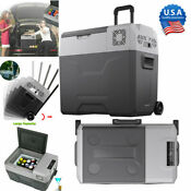 50l 52qt Portable Mini Freezer Cooler 12v Compressor Refrigerator Mini Fridge