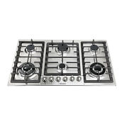 Metawell 34 Gas Stainless Steel Cooktop Stove 6 Burner Cook Top Kitchen Cooker
