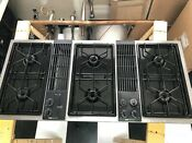 Vintage Jenn Air Gas Stove Top Downdraft Blower Range Stainless Steel 47 Extra