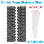 24 Pcs Lint Traps Stainless Steel Washing Machine Lint Snare Traps Washer 5 5cm