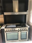 Tecnogas Superiore Next Panorama 48 Freestanding Gas Range Rn483gpss With Hood