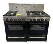 48 Black Liquid Propane Sealed Burner Double Sided Grill Griddle Range Convec