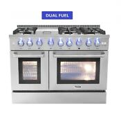 Thor Kitchen 48 Range Dual Fuel 6 Burner With Double Oven And Griddle