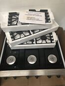 Viking Professional Vgrt360 6bss Stainless Steel 36 Gas Cooktop New