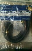 New Ge Universal Wx09x10020 4 Prong Wire 30 Amp Dryer Power Cord 6 Feet