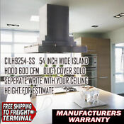 Vent A Hood Cilh9254 Ss Stainless Island Ventilation Hood 54 Inches 550 Cfm